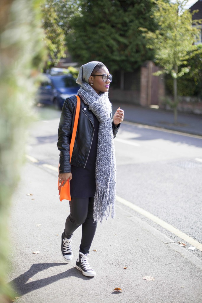 Fashion FRIDAY: Orange, black and grey