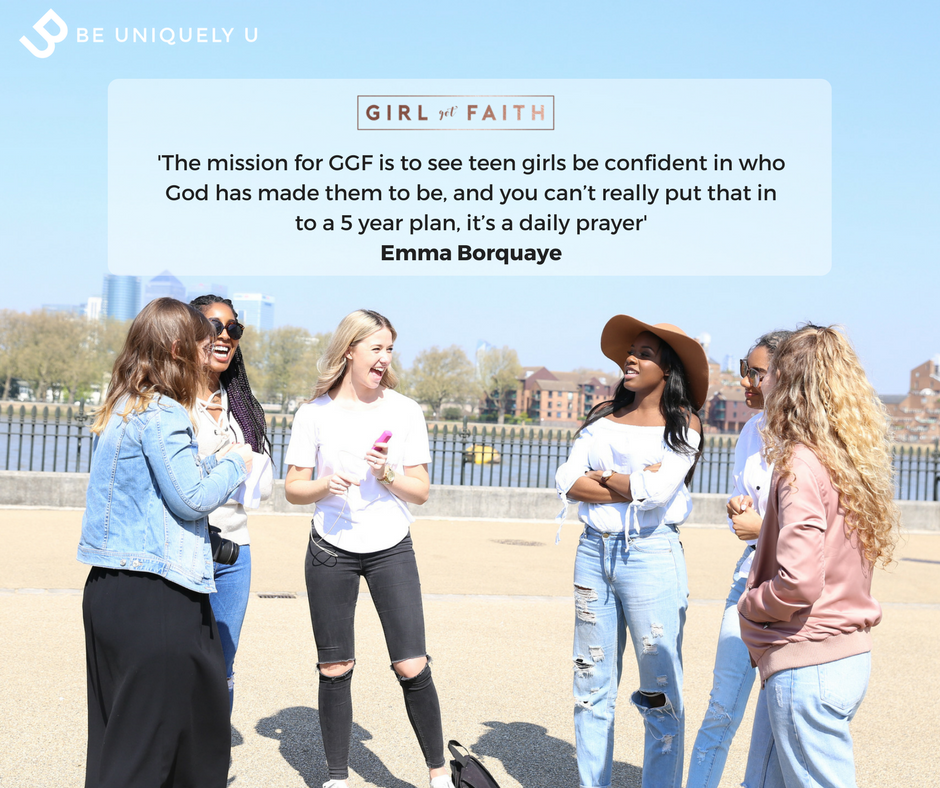 The mission for GGF is to see teen girls be confident in who God has made them to be, and you can't really put that in to a 5 year plan, it's a daily prayer